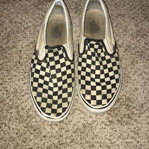 Black and white checker board vans